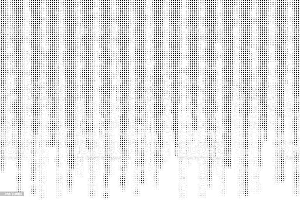 black and white matrix with halftone style vector art illustration