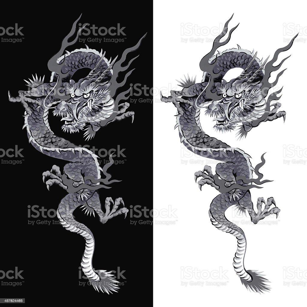 日本の龍 ベクターアートイラスト