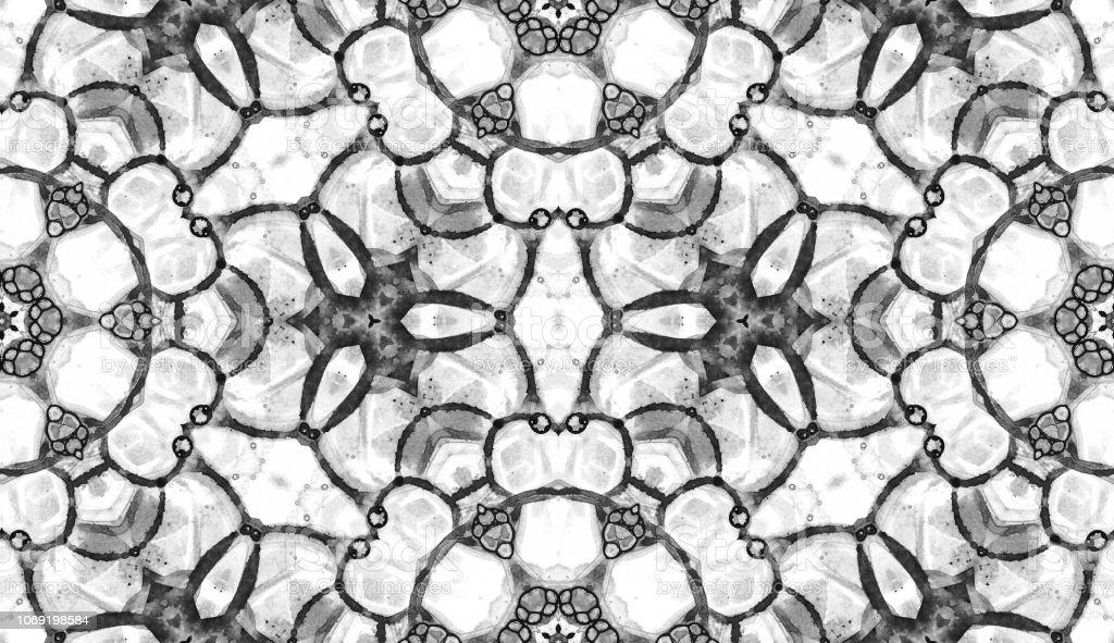 Black and white seamless pattern. Amusing delicate vector art illustration