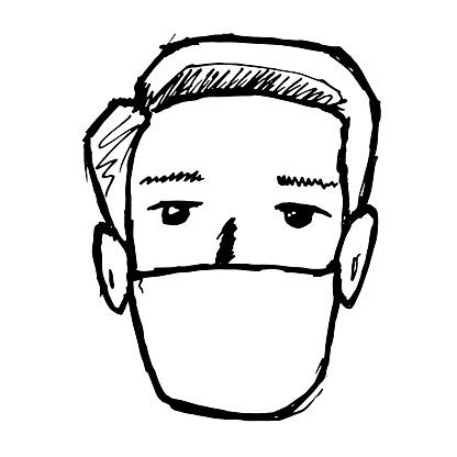 white virus masks