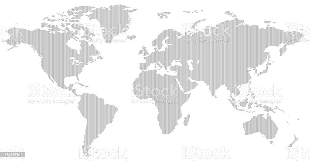 Cartina Geografica Del Mondo In Bianco E Nero.Bianco E Nero Linea Verticale Modello Mappa Del Mondo Negativo Immagini Vettoriali Stock E Altre Immagini Di Acqua Istock