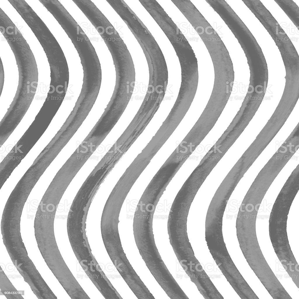 Svart och vit vågig randig bakgrund royaltyfri svart och vit vågig randig  bakgrund-vektorgrafik och