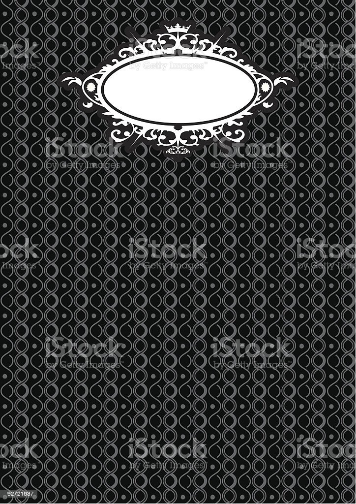 Black background royalty-free stock vector art