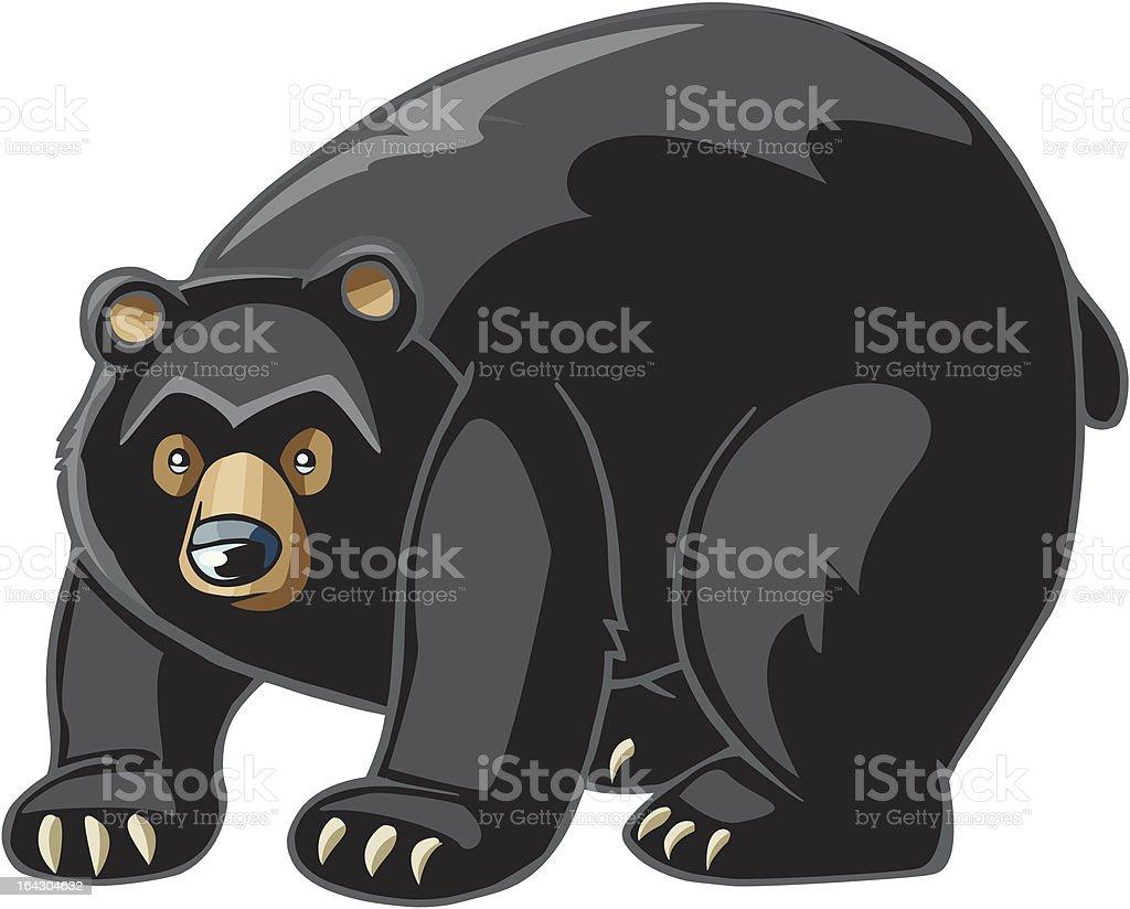 royalty free black bear clip art vector images illustrations istock rh istockphoto com black and white polar bear clipart american black bear clipart