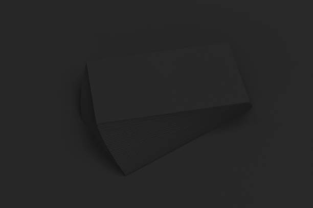 Royalty free stack of blank business card clip art vector images black blank business cards mock up on black background vector art illustration colourmoves