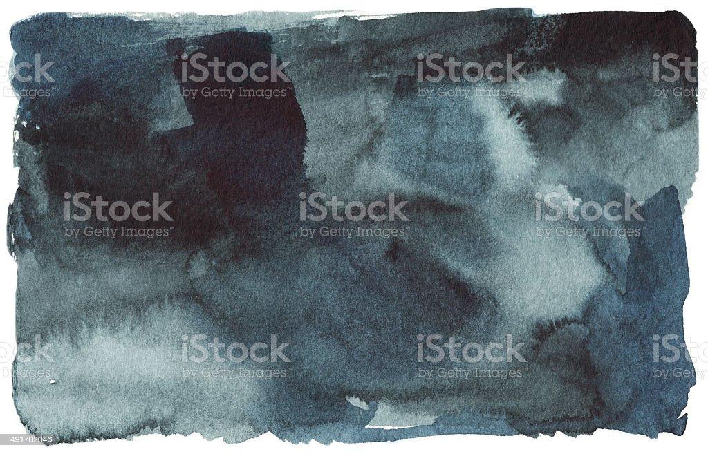 black blue watercolor stain, spot vector art illustration
