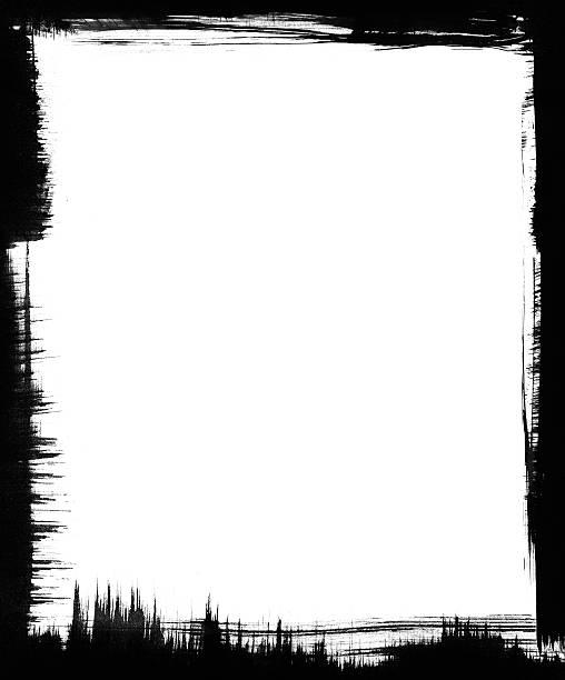ilustrações, clipart, desenhos animados e ícones de escova quadro preta - texturas desgastadas