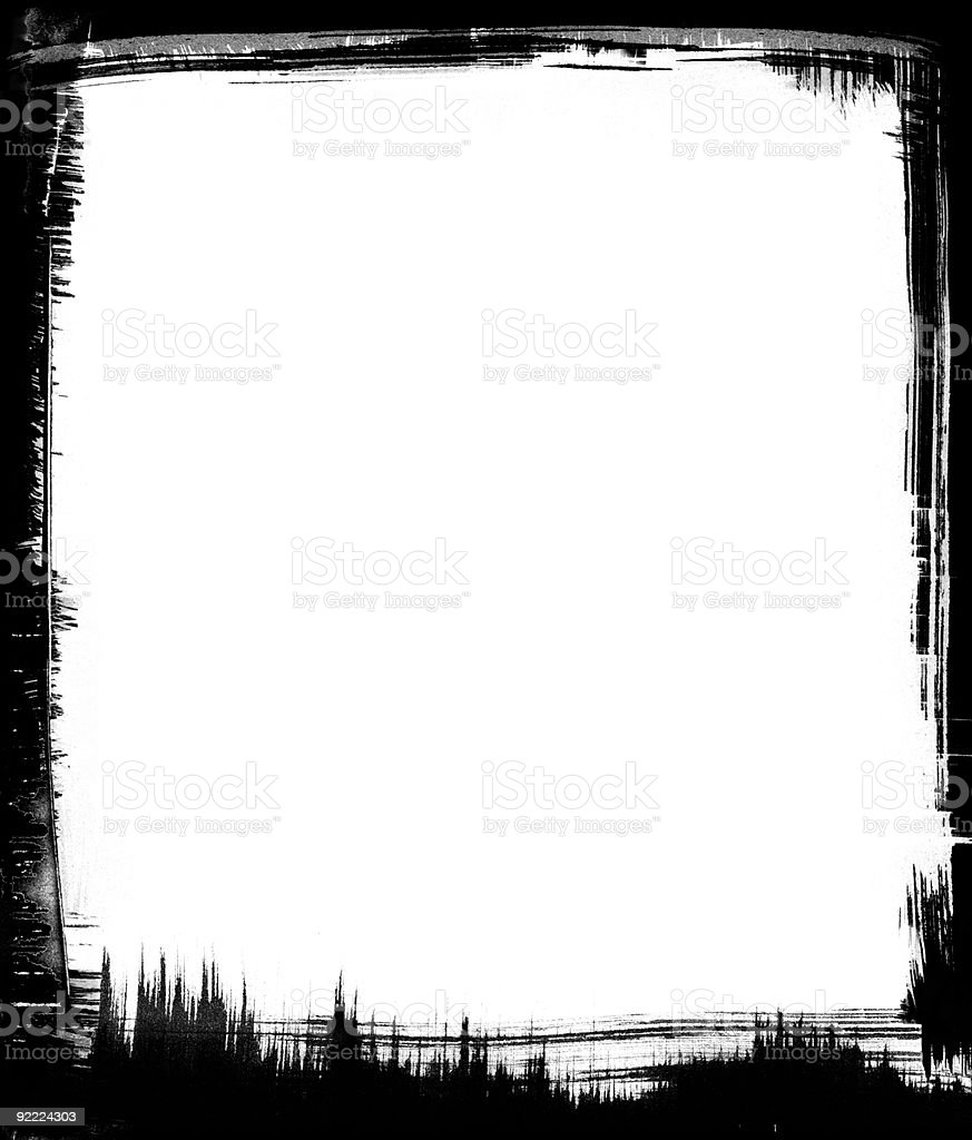 Black Brush Frame vector art illustration
