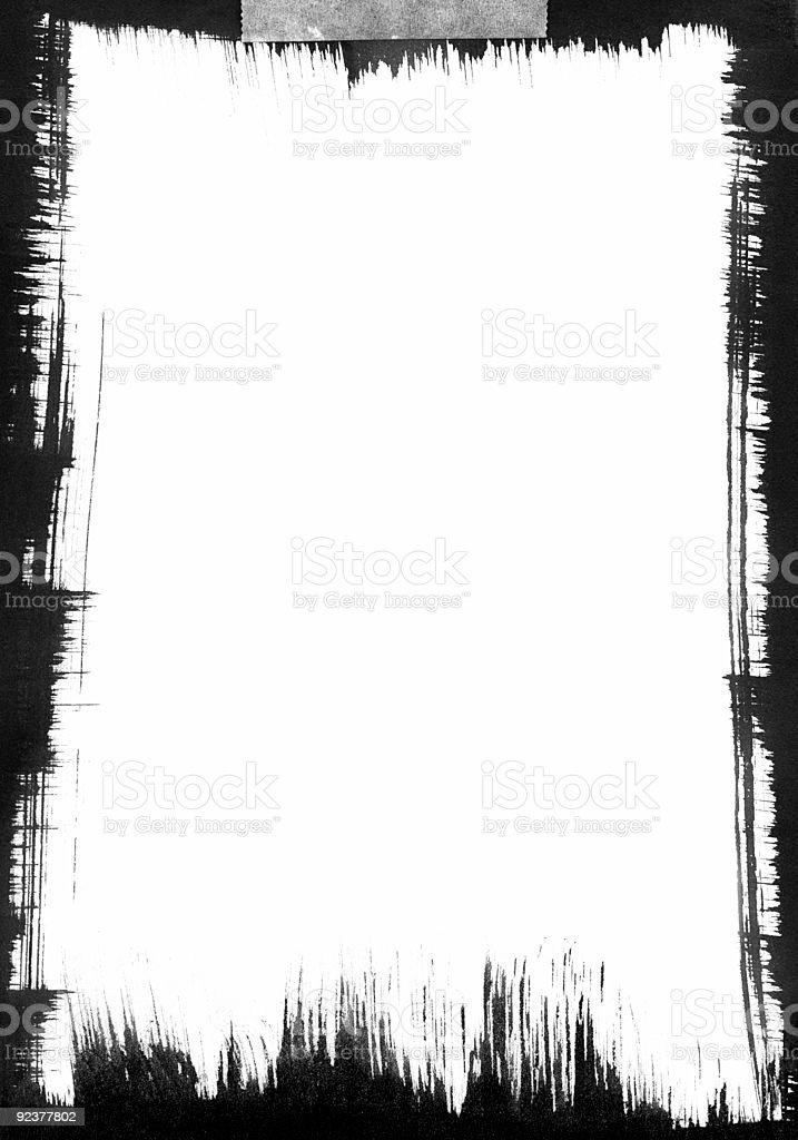 Black Brushstroke Frame vector art illustration