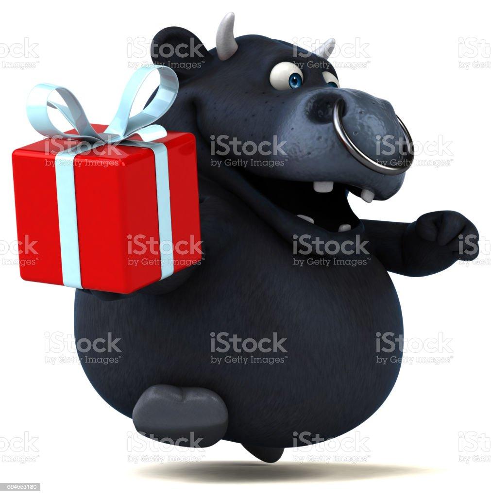 Black bull - 3D Illustration royalty-free black bull 3d illustration stock vector art & more images of animal