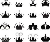 black crown icons