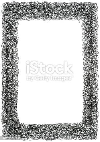 istock Black doodles frame 1323371093