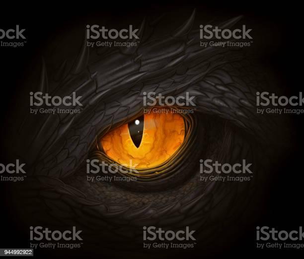 Black Dragon Eye Stock Illustration - Download Image Now