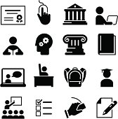 Online learning and education icon set. Professional icons for your print project or Web site. See more in this series.