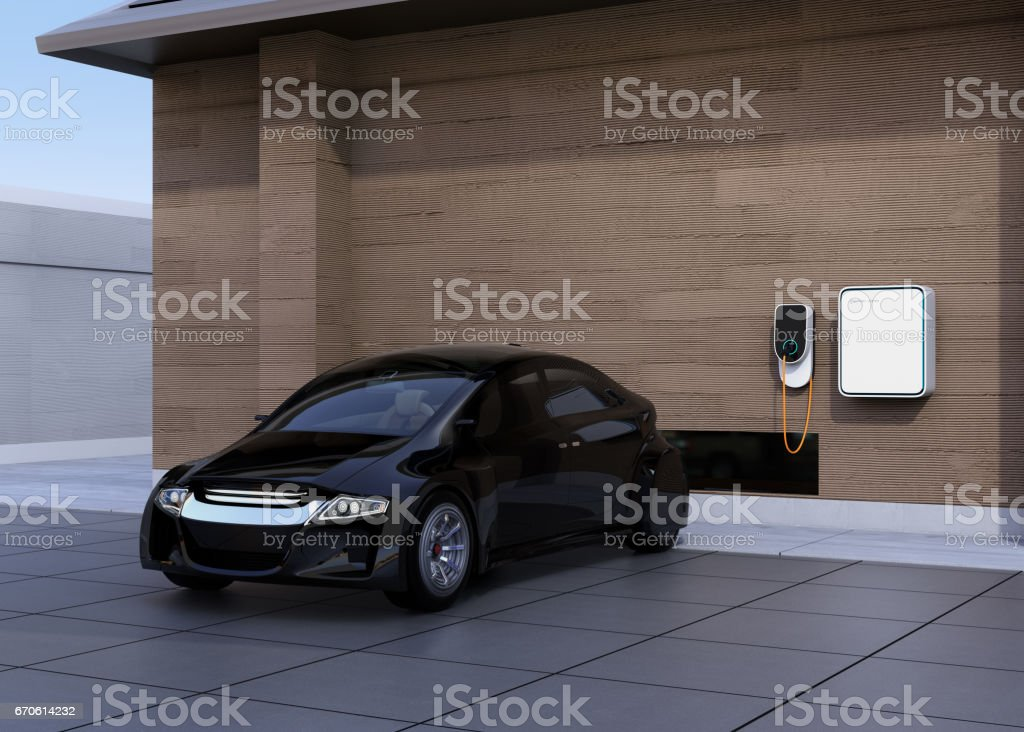 Black Electric Car Charging At Home Charging Station Stock Illustration Download Image Now Istock,Cheap Diy Halloween Decorations Scary