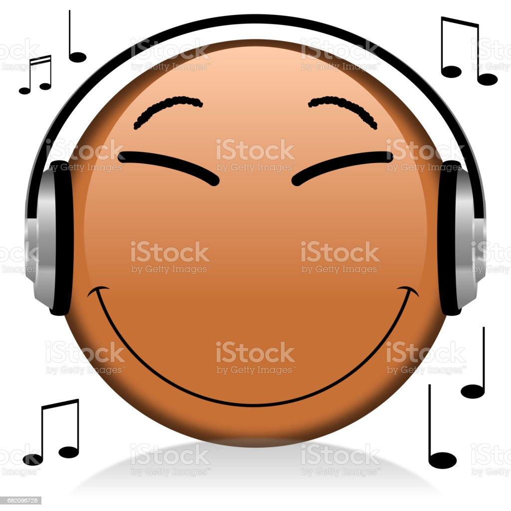 Black Emoji Emoticon Music Stock Illustration - Download Image Now
