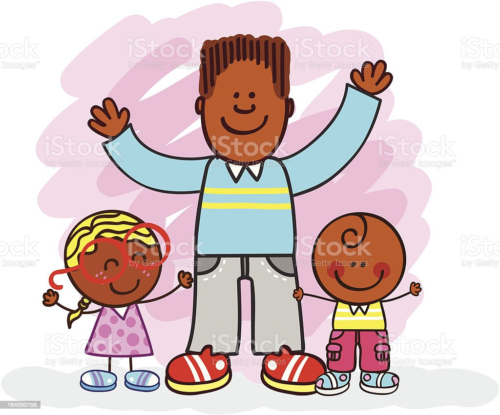 Negro Familia Con Hermanos O Padre Y Ni 241 Os Ilustraci 243 N