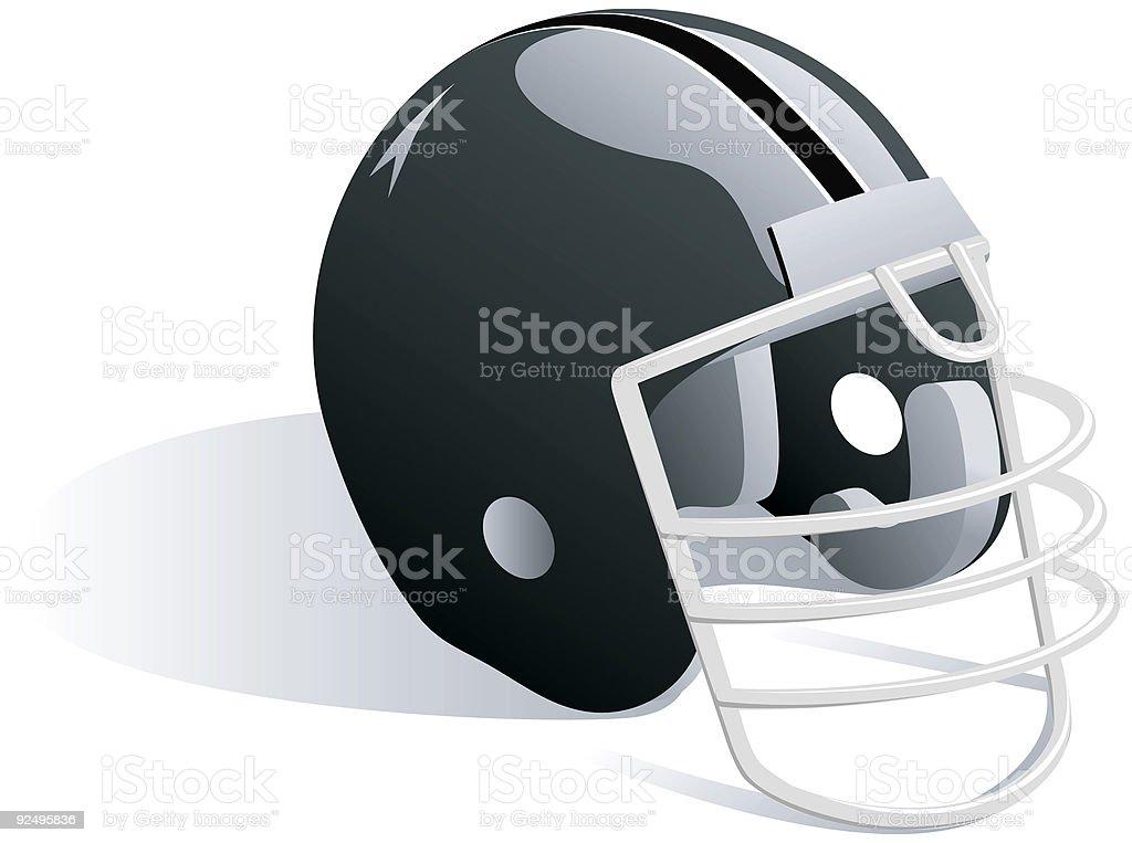 Black Football Helmet - Vector royalty-free black football helmet vector stock vector art & more images of american culture