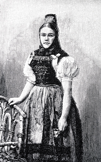 Black Forest, Woman in traditional clothing from Titisee-Neustadt
