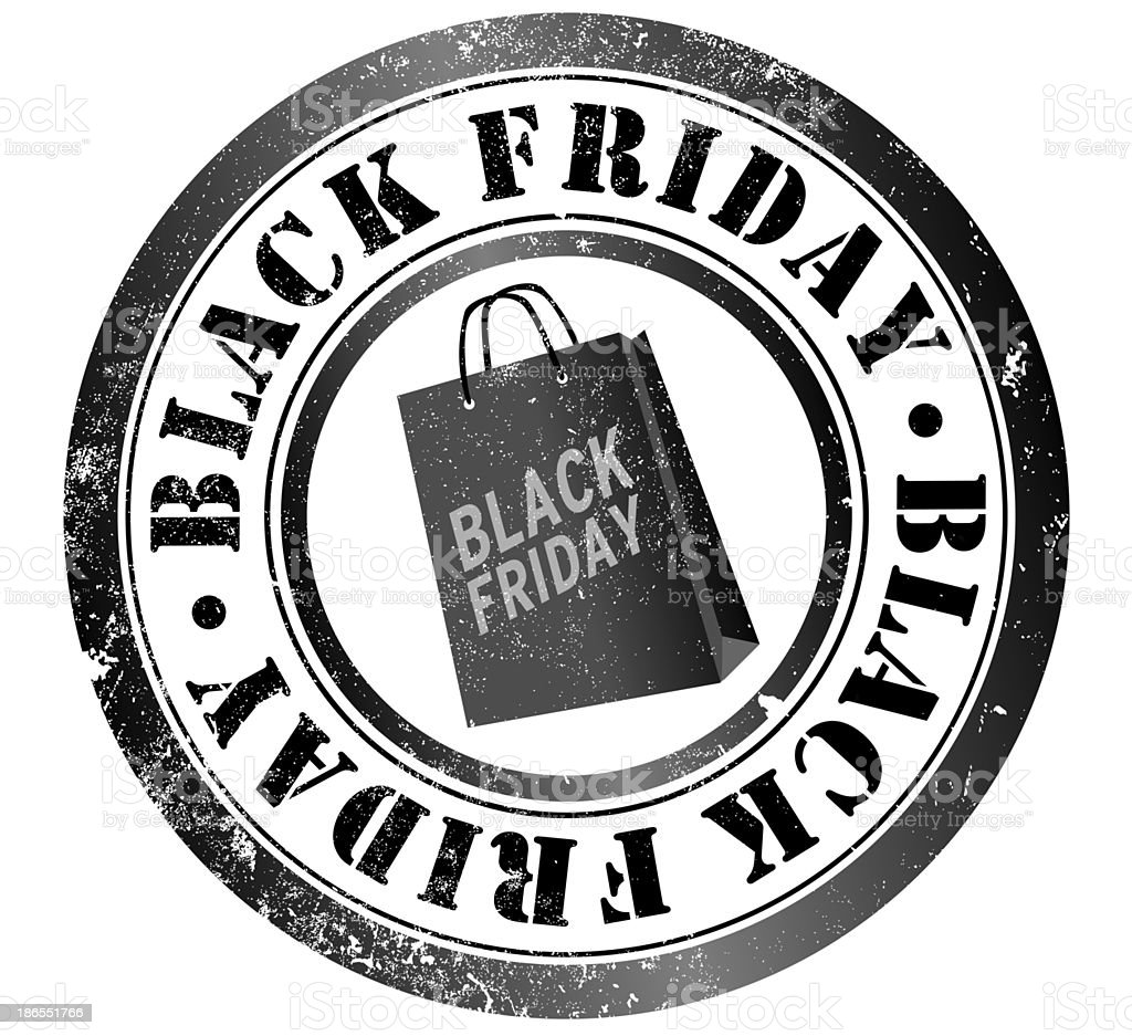 Black fridaystamp royalty-free stock vector art