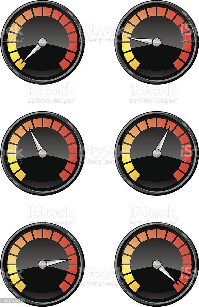 black gel dials royalty-free stock vector art