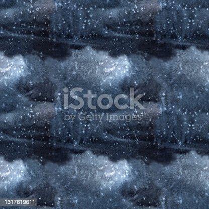 istock Black grey dark blue seamless pattern and tie-dye texture 1317619611