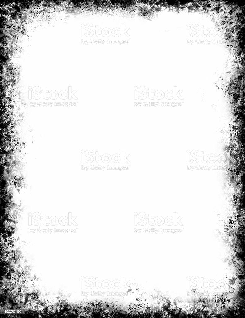 Black Grunge Frame vector art illustration