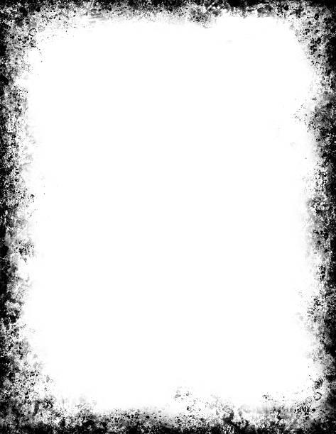 ilustrações, clipart, desenhos animados e ícones de moldura grunge preto - texturas desgastadas
