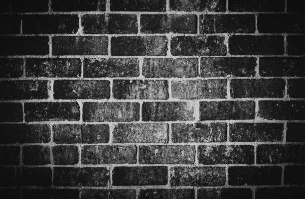 Black grunge texture on brick wall background. Abstract grunge texture vector art illustration