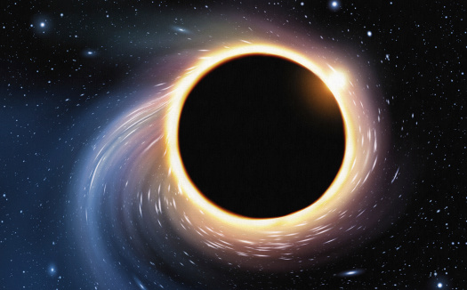 Black Hole Digital Painting Stock Illustration - Download Image Now