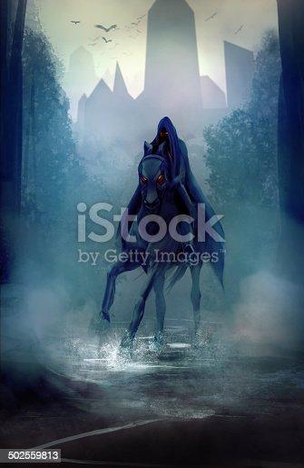 istock Black horseman 502559813
