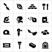 Black Masonry Icons