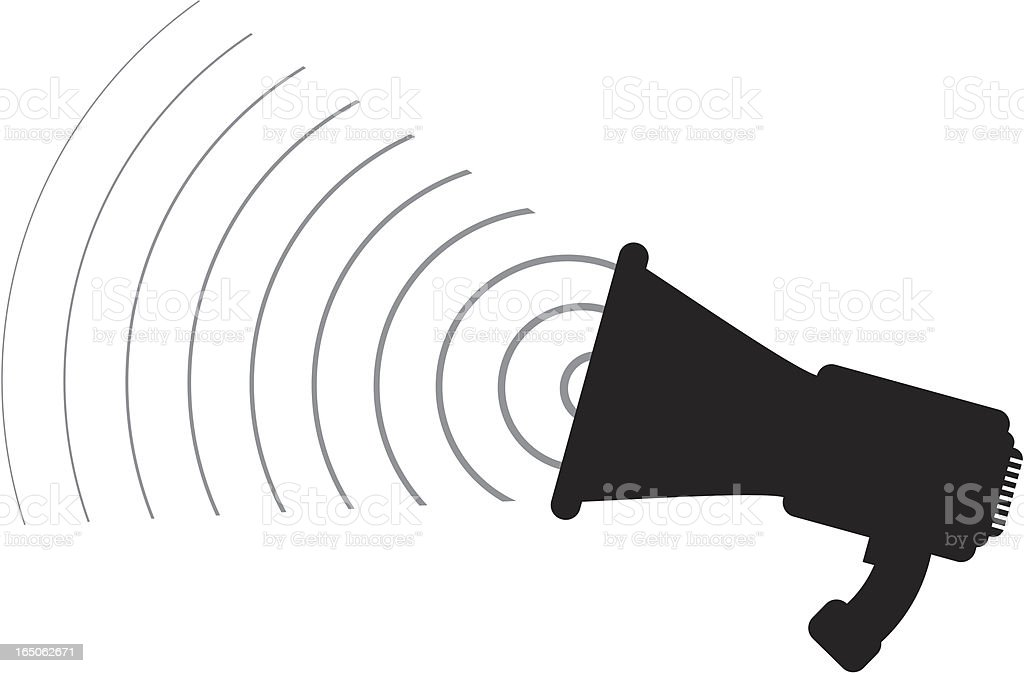 black megaphone royalty-free stock vector art