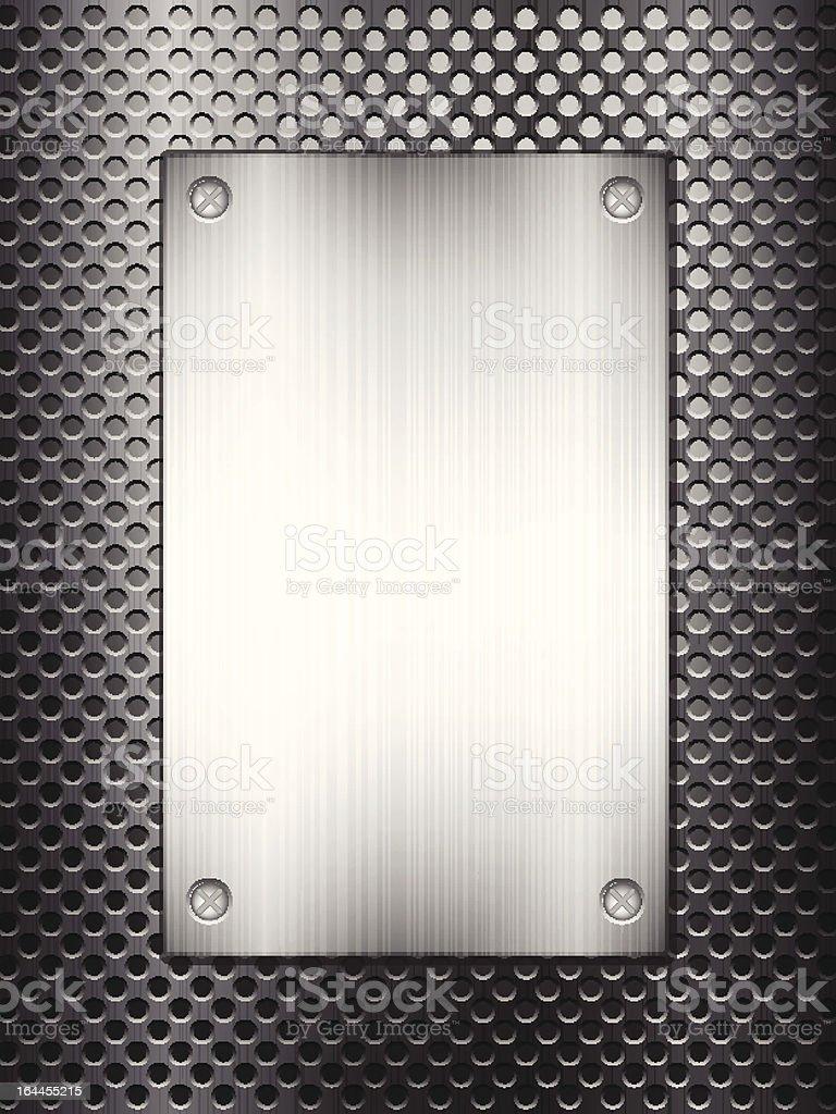 black metal grid and plate vertical royalty-free stock vector art