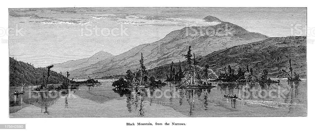 Black Mountain, New York | Historic American Illustrations vector art illustration
