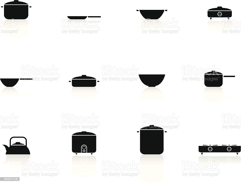 black n white icons - cooking accessories royalty-free black n white icons cooking accessories stock vector art & more images of arts culture and entertainment