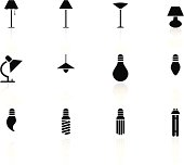 black n white icons - lights