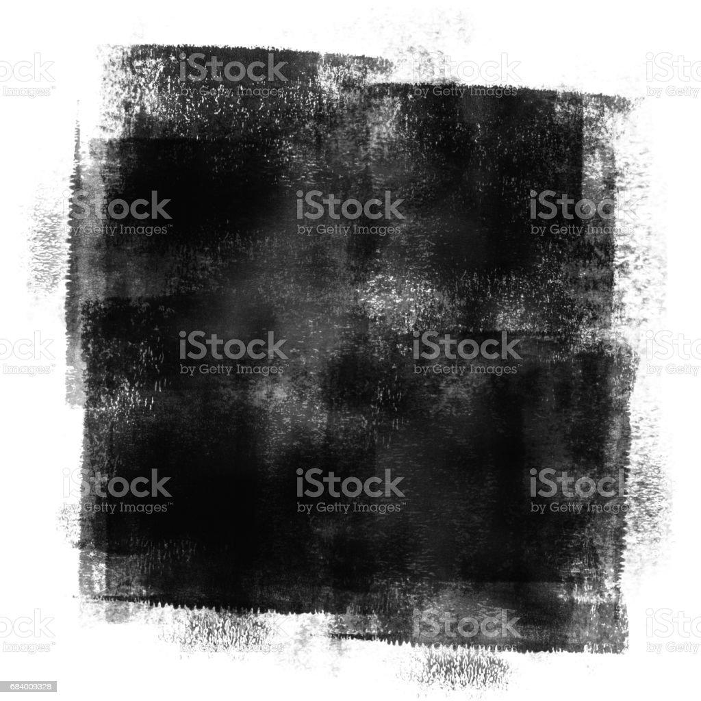 Black Painted Grunge Texture vector art illustration