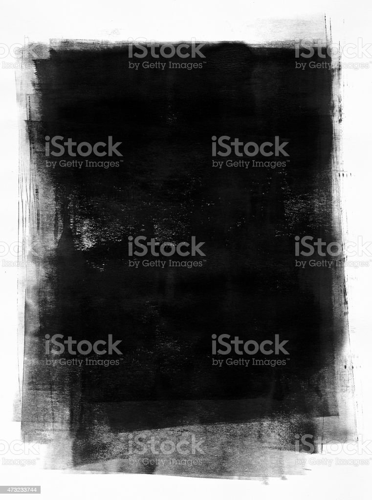 Black painted paper vector art illustration