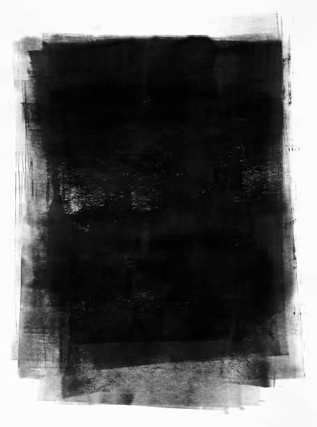 Black painted paper vector art illustration