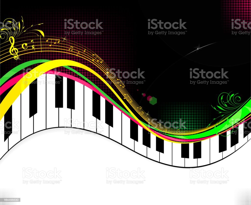 Black piano music background royalty-free stock vector art