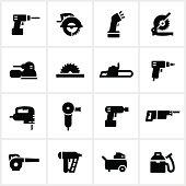 Black Power Tools Icons