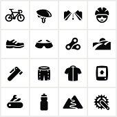 Black Road Biking Icons