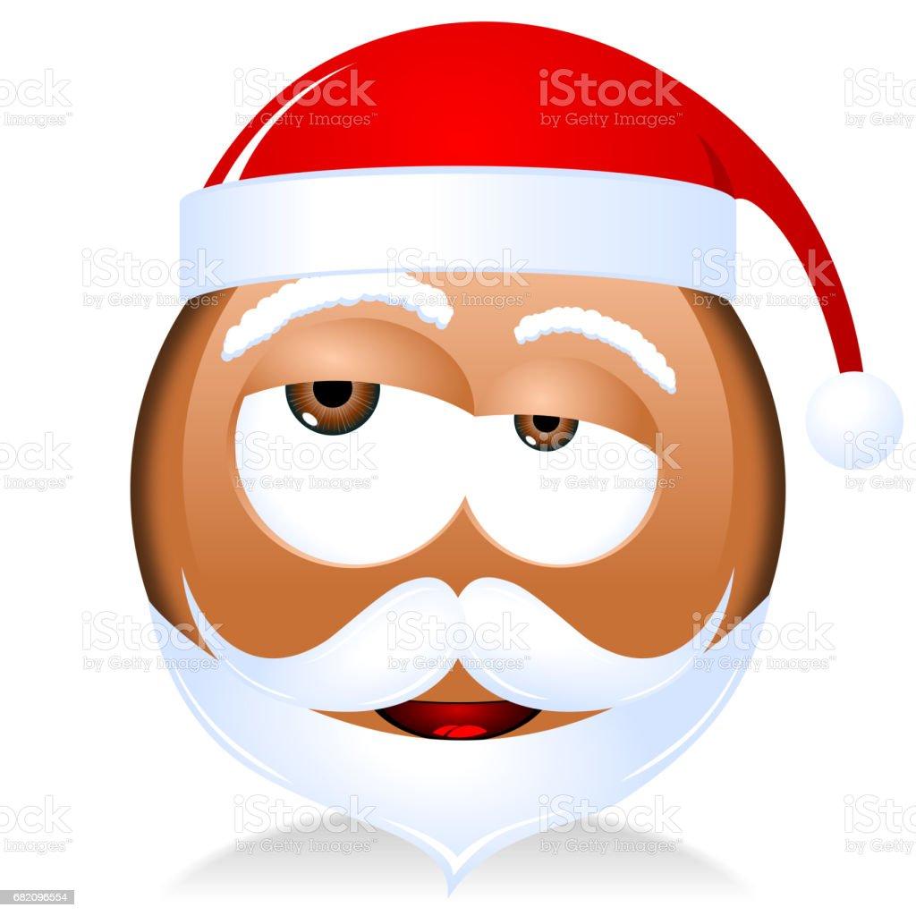 Black Santa Claus emoji vector art illustration