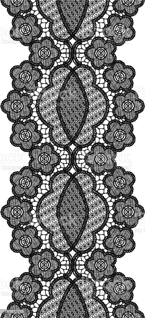 Black seamless lace royalty-free stock vector art