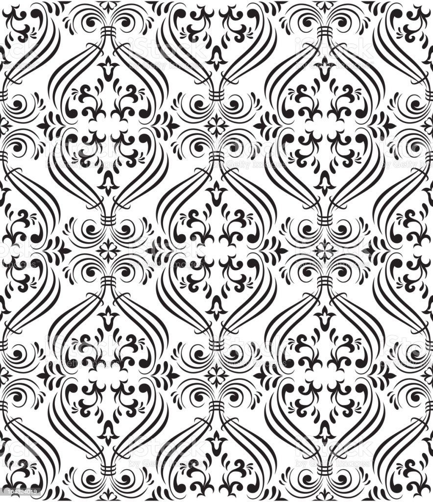 Black seamless ornamental wallpaper royalty-free black seamless ornamental wallpaper stock vector art & more images of art and craft