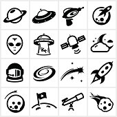 Black Space Icons