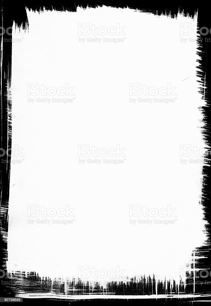 Black Textured Frame vector art illustration