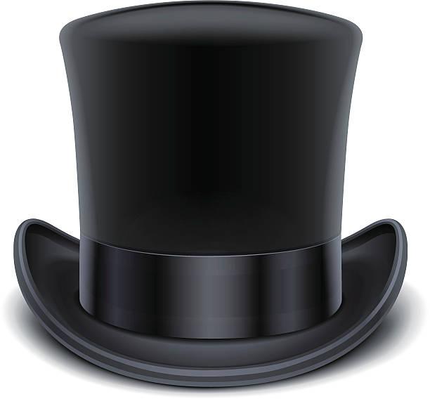 schwarzes top mütze - zylinder stock-grafiken, -clipart, -cartoons und -symbole