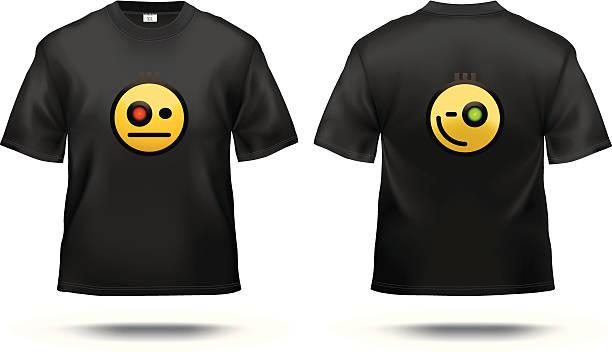Black T-shirt vector art illustration